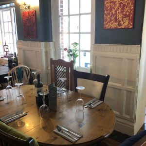 The Chequer Inn dining area